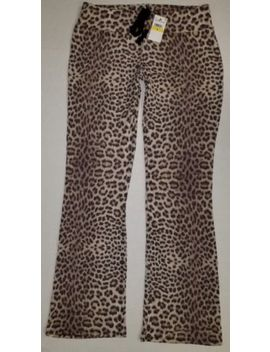 Betsey Johnson Womens Cozy Leopard Knit Fleece Pants Large                New by Betsey Johnson
