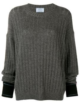Long Sleeve Fitted Sweater by Prada