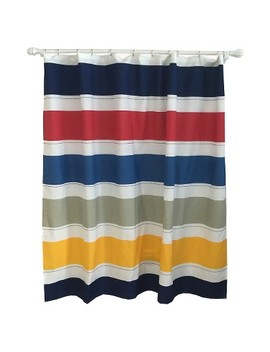 Warm Rugby Stripe Shower Curtain   Pillowfort™ by Pillowfort™