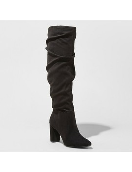 Women's Angie Microsuede Heeled Slouch Fashion Boots   A New Day™ by A New Day™