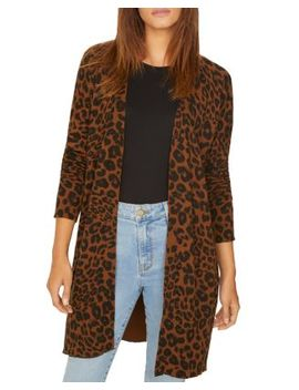 Lenox Leopard Print Cardigan by Sanctuary