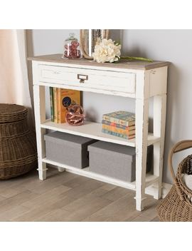 Maison Rouge Marston Traditional French Accent White Console Table by Maison Rouge