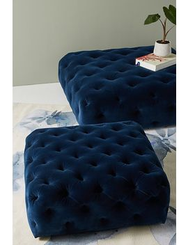 Thelina Tufted Ottoman by Anthropologie