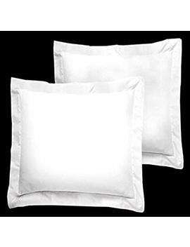"Crown Collection American Size Set Of 2pcs Pillow Case 650 Thread Count Euro 26x26"" Inch Size Export Quality White Solid Egyptian Cotton by Crown Collection"