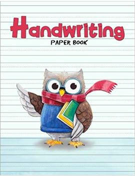 "Handwriting Paper Book: Penmanship Practice Paper Notebook Writing Letters & Words With Dashed Center Line, Handwriting Hooked Learn, Handwriting Workbooks For Kids, 8.5"" X 11"" 100 Pages by Amazon"