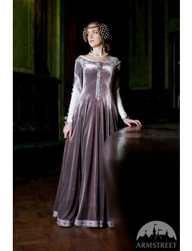 "21 Percents Discount! Custom Renaissance Dress ""Lady Rowena""; Velvet Gown; Medieval Gown' Ren Gown by Etsy"