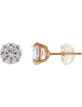 14 Kt Gold Diamante Stud Earrings by Cote D'or