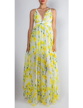 Sunshine Floral Enchantress Gown by Goldie's, Los Angeles