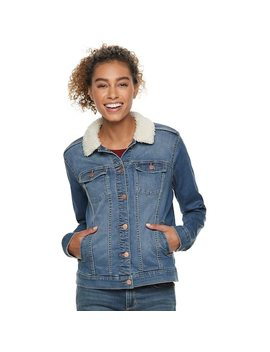 Women's Sonoma Goods For Life™ Sherpa Lined Jean Jacket by Kohl's