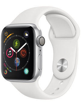 Apple Watch Series 4 Gps, 40mm Silver Aluminum Case With White Sport Band by Apple Watch Series 4