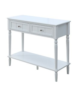 French Country Two Drawer Hall Table   White   Johar Furniture by Johar Furniture