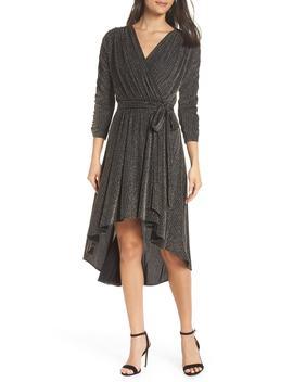 Metallic Wrap Dress by Chelsea28