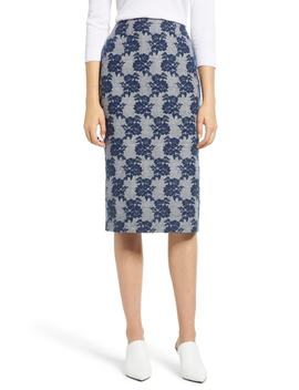 Mixed Pattern Pencil Skirt by Halogen®