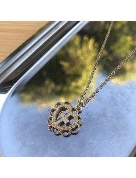 Lovely Cross Necklace Cross In A Heart Pendant by Depop