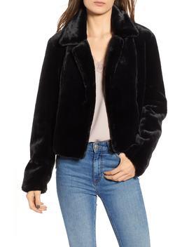 Cropped Faux Fur Jacket by Blanknyc