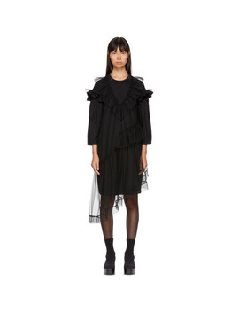 Black Tulle T Shirt Dress by Simone Rocha