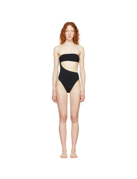 Black 90s Strapless Swimsuit by Stella Mccartney