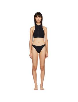 Black 90s High Leg Bikini by Stella Mccartney