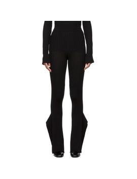 Black Rib Knit Flared Lounge Pants by Stella Mccartney