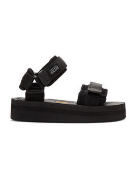 Black Cel Platform Sandals by Suicoke