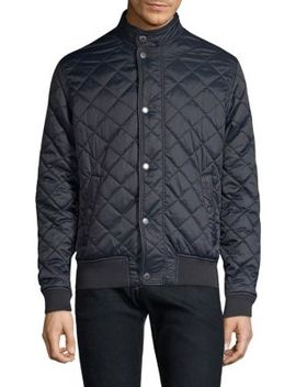 Black Tartan Edderton Quilt Jacket by Barbour