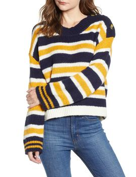 Button Shoulder Stripe Sweater by Bp.