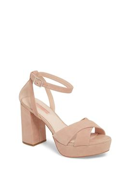 Leah Cross Strap Platform Sandal (Women) by Topshop