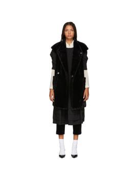Black Faux Fur Vest by Tricot Comme Des GarÇons