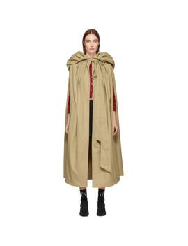 Beige Sleeveless Trench Coat by Valentino
