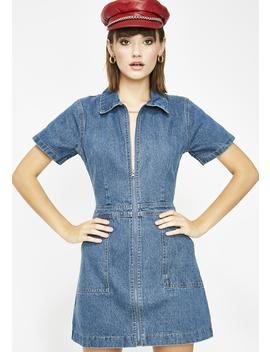 Berry Spend Sum Denim Dress by Etophe Studios