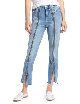 The Rascal High Waist Zip Step Hem Jeans by Mother