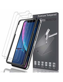 Lk [3 Pack] For I Phone Xr Screen Protector, [Tempered Glass][Case Friendly] Double Defence Technology [Alignment Frame Easy Installation] [3 D Touch] With Lifetime Replacement Warranty by Lk