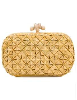 Textured Knot Clutch by Bottega Veneta Vintage