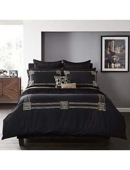 5 A Fifth Avenue Hera Black 100 Percents Cotton Duvet Cover by Dunelm