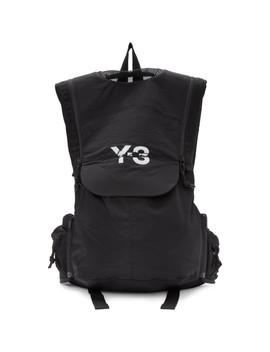 Black Running Backpack by Y 3