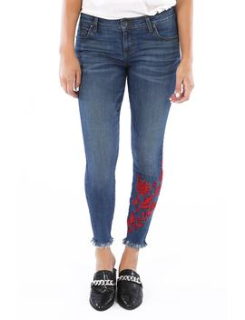 Connie Embroidered Ankle Skinny Jeans by Kut From The Kloth