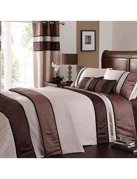 Manhattan Mocha Bed Linen Collection by Dunelm