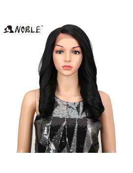 "Noble Lace Front Ombre Color 20""Inch Blonde Synthetic Wigs For Black/White Women High Temperature Glueless Cosplay Hair Wigs by Noble"
