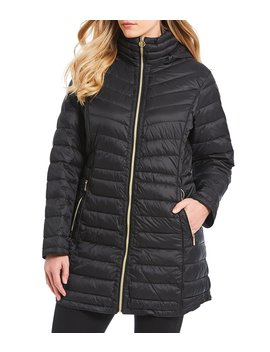 Plus Packable Down Hooded Coat by Michael Michael Kors