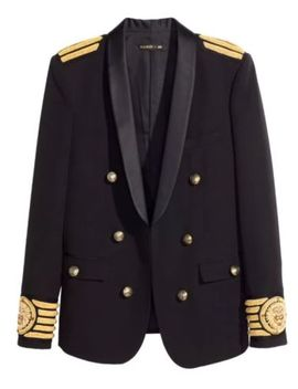 Must Sell! Balmain X H&M Embroidered Blazer Coat. Dust Bag Included! by Balmain X H&M