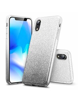 """Esr I Phone Xr Case, Makeup Luxury Glitter Case Sparkle Bling Designer Cover[Three Layer] For Women [Supports Wireless Charging] For The 6.1"""" I Phone Xr(Black Gradient) by Esr"""