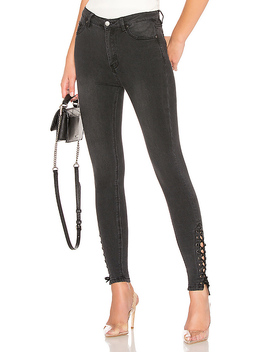 Madelyn Lace Up Skinny Jeans by By The Way.