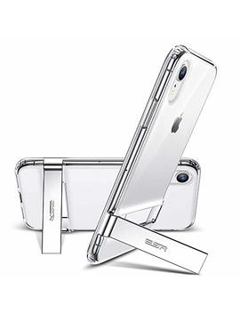 """Esr I Phone Xr Case, Metal Kickstand Case [Vertical And Horizontal Stand] [Reinforced Drop Protection] Hard Pc Back With Flexible Tpu Bumper For 6.1"""" I Phone Xr(Clear) by Esr"""