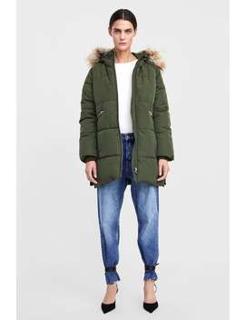 Padded Parka With Hood  Puffers Coats Woman by Zara