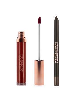 Revolution Retro Luxe Matte Lip Kit Queen by Makeup Revolution