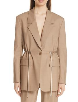 Tropical Drawstring Waist Jacket by Tibi