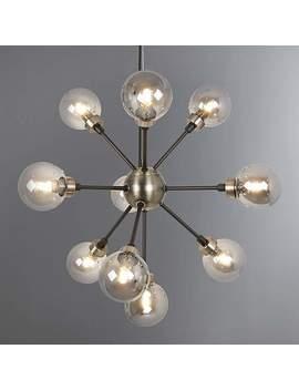 Tanner Black 10 Light Sputnik Fitting by Dunelm