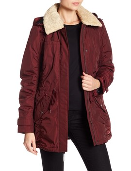 Nandie Faux Shearling Hooded Jacket by Andrew Marc