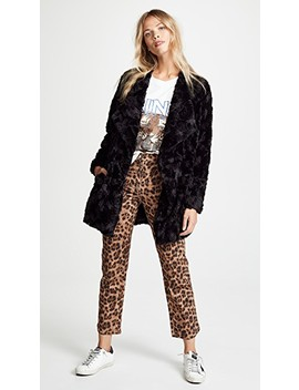 Tucker Faux Fur Drape Front Jacket by Bb Dakota
