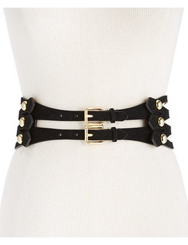 Caged Suede Stretch Belt by Michael Michael Kors
